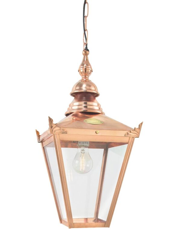 Norlys Chelsea 1 Light Copper Hanging Outdoor Porch Lantern