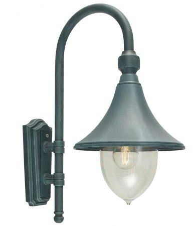 Norlys Firenze 1 Light Outdoor Wall Lantern Verdigris