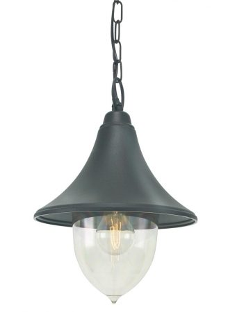 Norlys Firenze 1 Light Hanging Outdoor Porch Lantern Black