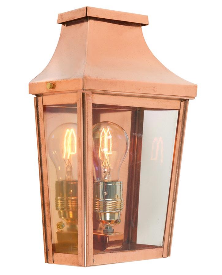 Light Copper Outdoor Wall Lantern, Copper Outdoor Lighting Fixtures