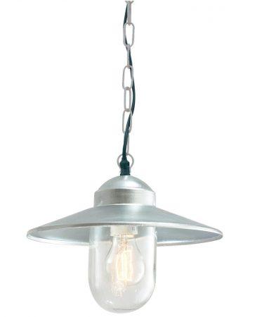 Norlys Karlstad Hanging Outdoor Porch Lantern Galvanised IP55