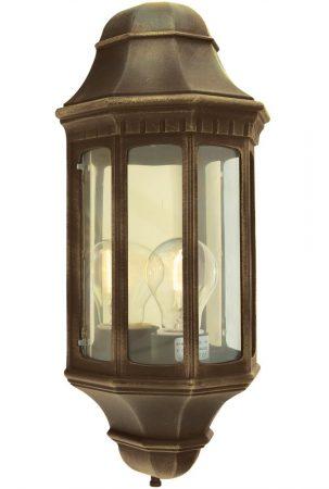 Norlys Malaga Flush Outdoor Wall Lantern Black & Gold