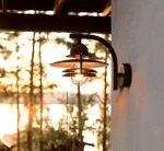 Norlys Oslo Art Deco Style Black Garden Outdoor Wall Light