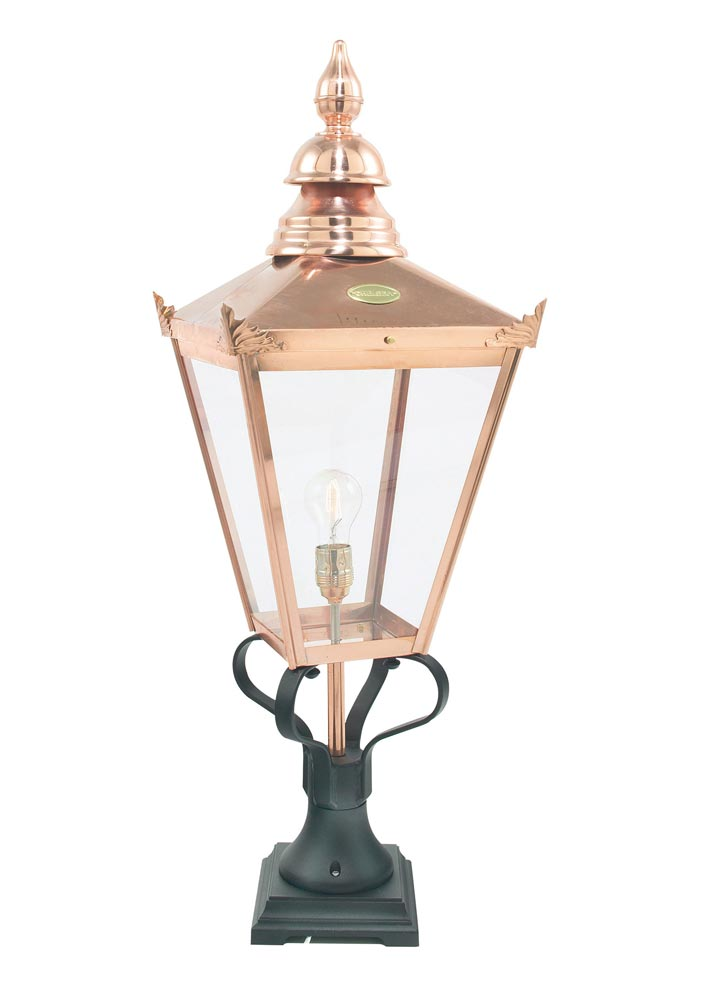 Norlys Chelsea 1 Light Pure Copper Outdoor Pedestal