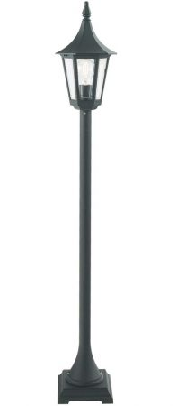 Norlys Rimini 1 Light Outdoor Pillar Lantern Black Traditional