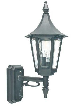 Norlys Rimini 1 Light Upward Outdoor Wall Lantern Black
