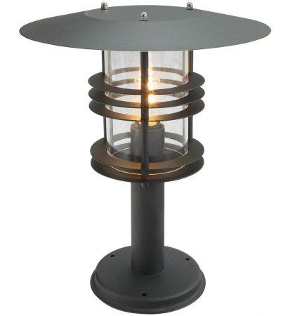 Norlys Stockholm Grande Outdoor Pedestal Lantern Black Art Deco Style