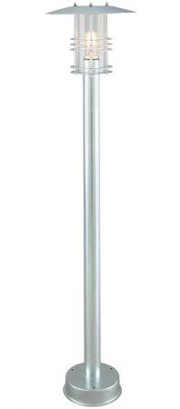 Norlys Stockholm Outdoor Pillar Lantern Galvanised Art Deco Style