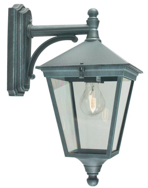 Norlys Turin 1 Light Downward Outdoor Wall Lantern Verdigris