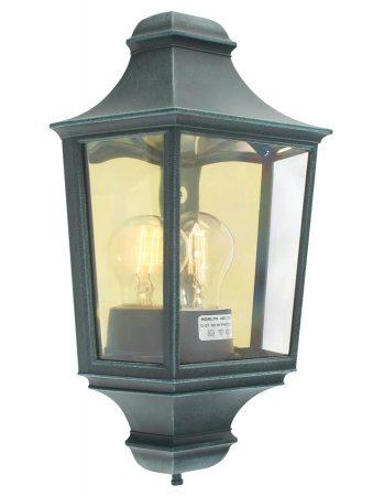 Norlys Turin 1 Light Flush Outdoor Wall Half Lantern Verdigris