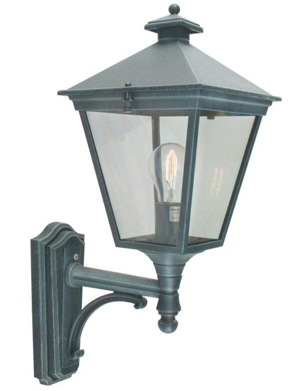 Norlys Turin 1 Light Upward Outdoor Wall Lantern Verdigris