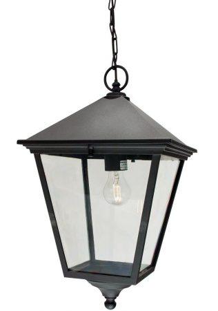 Norlys Turin Grande Hanging Outdoor Porch Lantern Black