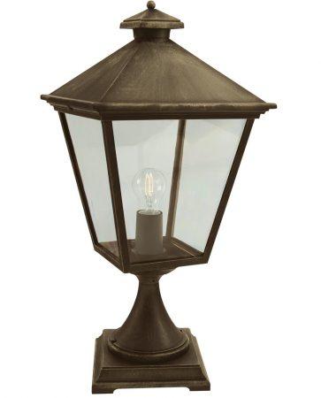 Norlys Turin Grande Outdoor Pedestal Lantern Black & Gold