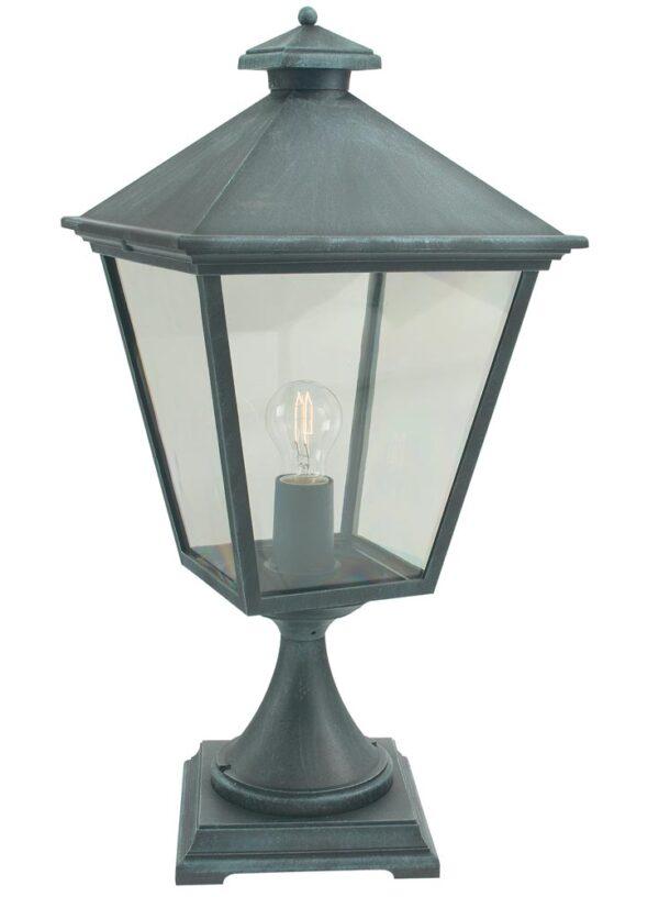 Norlys Turin Grande Outdoor Pedestal Lantern Verdigris