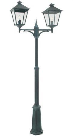 Norlys Turin Grande 2 Lantern Outdoor Lamp Post Verdigris