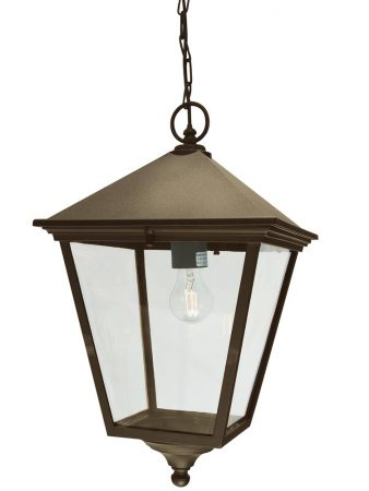Norlys Turin Grande Hanging Outdoor Porch Lantern Black & Gold