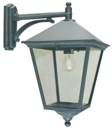 Norlys Turin Grande Downward Outdoor Wall Lantern Verdigris