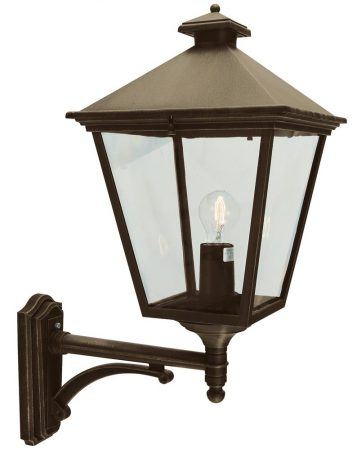 Norlys Turin Grande Upward Outdoor Wall Lantern Black & Gold