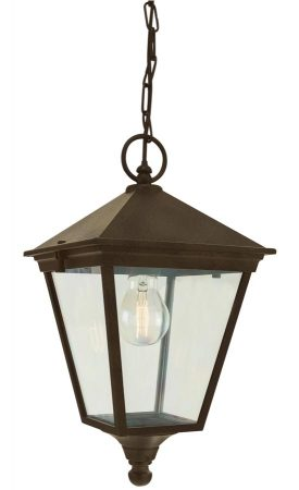Norlys Turin Hanging Outdoor Porch Lantern Black & Gold