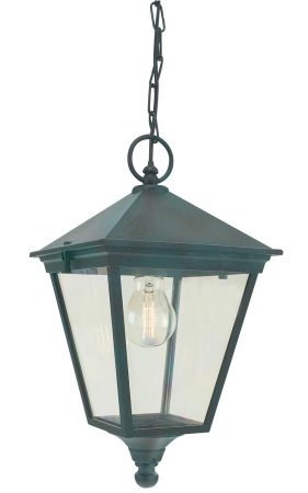Norlys Turin Hanging Outdoor Porch Lantern Verdigris