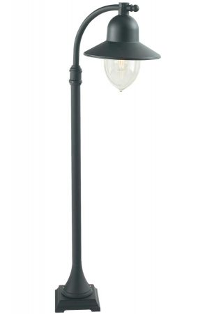 Norlys Como 1 Light Outdoor Post Lantern Black