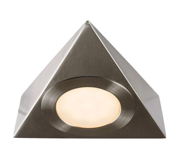 Nyx Triangular CCT LED Under Cupboard Light Brushed Chrome