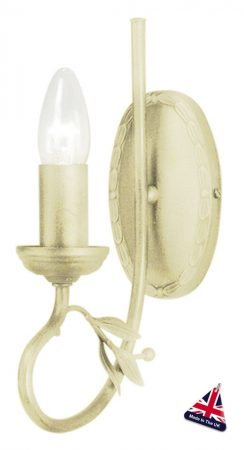 Olivia Ivory And Gold Ironwork 1 Lamp Wall Light UK Made