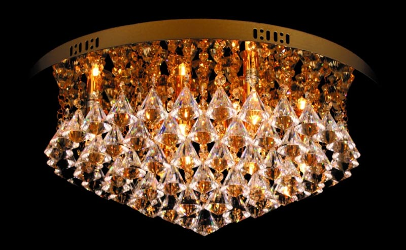 Impex parma circular gold 8 light flush crystal ceiling light mozeypictures Image collections
