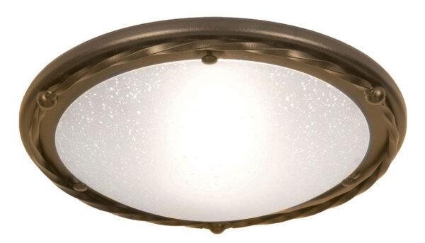 Elstead Pembroke 1 Light Flush Mount Ceiling Light Black & Gold