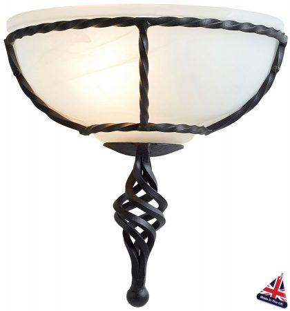 Pembroke Black Wrought Iron Wall Washer Light