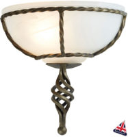 Pembroke Black And Gold Wrought Iron Wall Washer Light