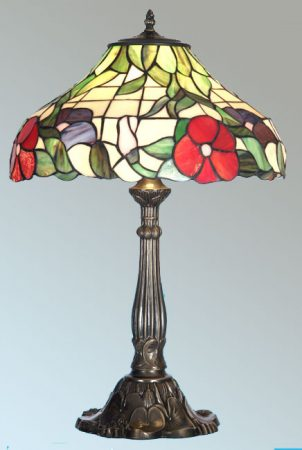 Peonies 400mm Tiffany Table Lamp