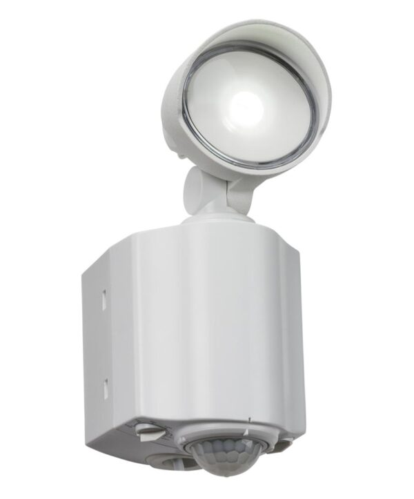 Outdoor Wall Security Spot Light 1 x 8w Cree LED PIR White IP44