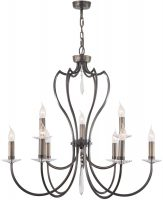 Elstead Pimlico Dark Bronze Birdcage 9 Light Large Chandelier