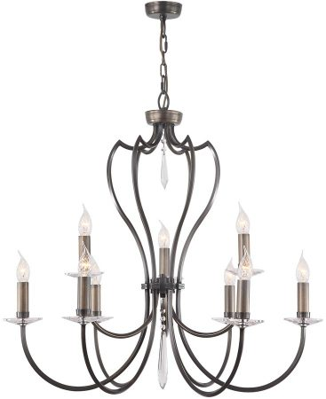 Elstead Pimlico 9 Light Large Birdcage Chandelier Dark Bronze