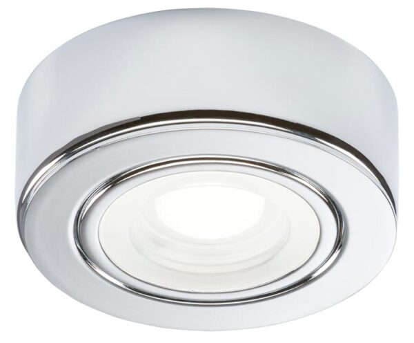 Kitchen under cabinet 2w cool white LED in polished chrome 230v