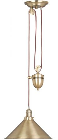 Elstead Provence Rise & Fall Pulley Ceiling Light Aged Brass