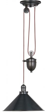 Elstead Provence Rise & Fall Pulley Ceiling Light Old Bronze