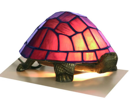 Purple Leaded Light Tortoise Lamp