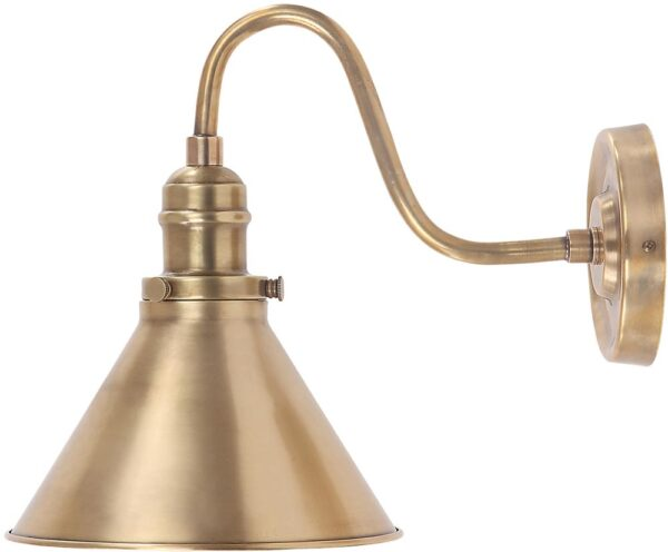 Provence Aged Brass Finish 1 Lamp Period Wall Light
