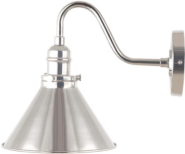 Elstead Provence Single Wall Light Polished Nickel Retro Style