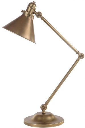 Elstead Provence Aged Brass 1 Light Adjustable Desk Lamp