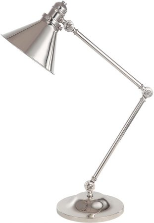 Elstead Provence Polished Nickel 1 Light Adjustable Desk Lamp