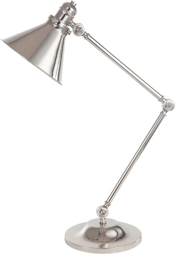 Elstead Provence Polished Nickel 1 Light Adjustable Desk Lamp