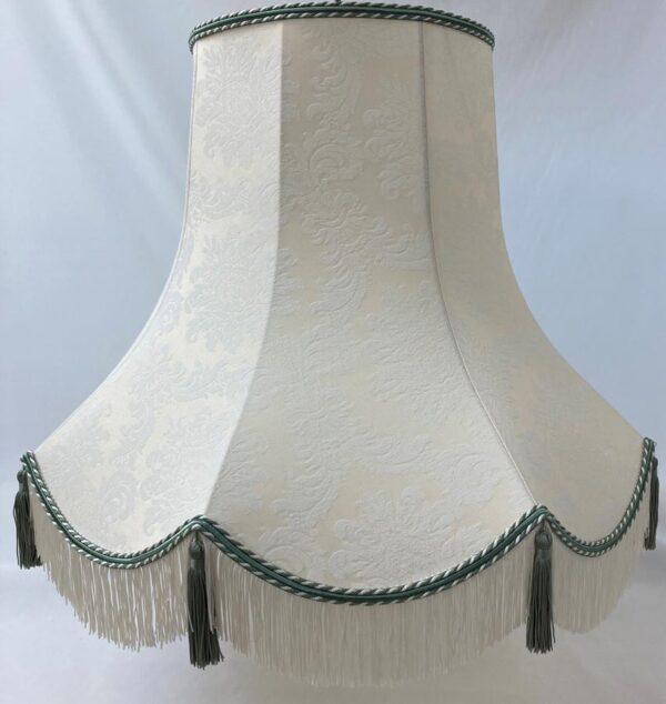 Quality Tassel Clip On Lamp Shade Cream & Apple Fabric UK Handmade