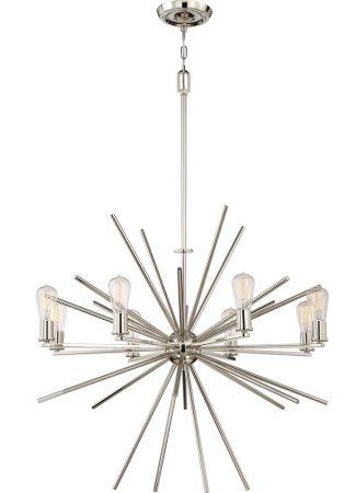 Quoizel Carnegie 8 Light Designer Pendant Chandelier Imperial Silver