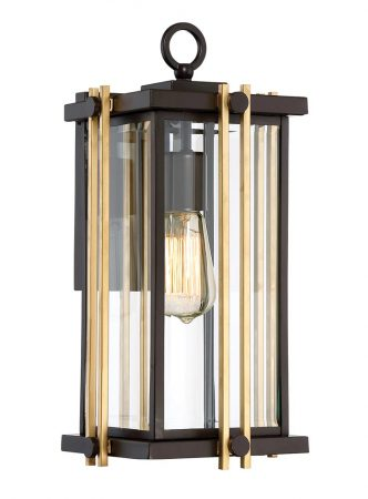 Quoizel Goldenrod 1 Light Medium Outdoor Wall Lantern Western Bronze