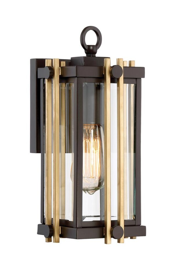 Quoizel Goldenrod 1 Light Small Outdoor Wall Lantern Western Bronze