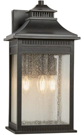 Quoizel Livingston 3 Light Large Outdoor Wall Lantern Imperial Bronze