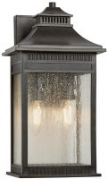 Quoizel Livingston 2 Light Medium Outdoor Wall Lantern Imperial Bronze